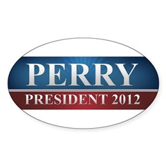Rick Perry 2012 Sticker (Oval)