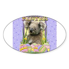 Easter Egg Cookies - Koala Sticker (Oval)