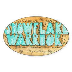 Snowflake Warrior Sticker (Oval)