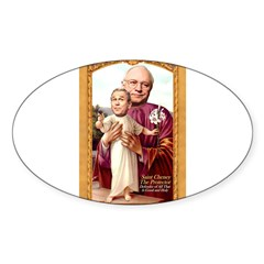 Saint Cheney Sticker for Votive Candle Sticker (Oval)