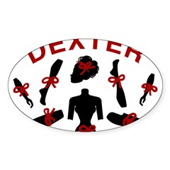 Dexter Dismembered Doll Sticker (Oval)