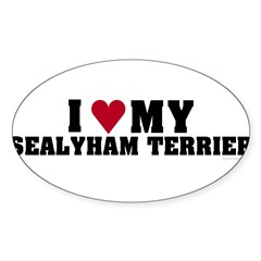 I Love My Sealyham Terrier Sticker (Oval)