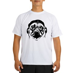 Pug Revolutionary Icon- Ash Grey Performance Dry T-Shirt