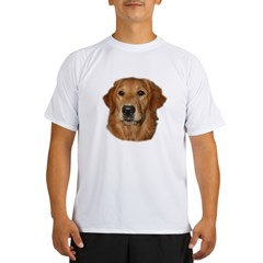 Head Study Golden Retriever Ash Grey Performance Dry T-Shirt