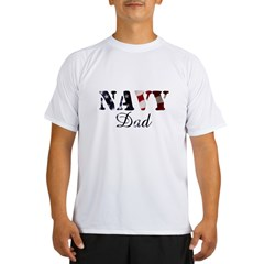 Navy Dad Fla Performance Dry T-Shirt