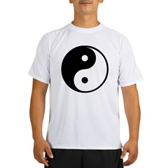 Yin Yang Ash Grey Performance Dry T-Shirt