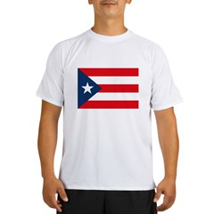 Puerto Rican Flag Ash Grey Performance Dry T-Shirt