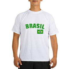 BRAZIL-BLACK-worn Performance Dry T-Shirt