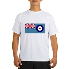 UK's RAF Flag Shoppe Ash Grey Performance Dry T-Shirt
