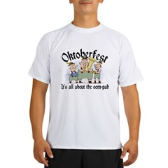 Funny Oktoberfest Ash Grey Performance Dry T-Shirt