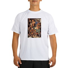 Miyamoto Musashi Fights Nue Ash Grey Performance Dry T-Shirt
