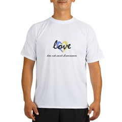 """Love does not count chromosomes"" Ash Grey Performance Dry T-Shirt"