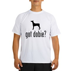 Doberman Pinscher Ash Grey Performance Dry T-Shirt