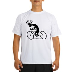 Kokopelli Road Cyclist Ash Grey Performance Dry T-Shirt