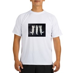 dancing cats, black and white Performance Dry T-Shirt