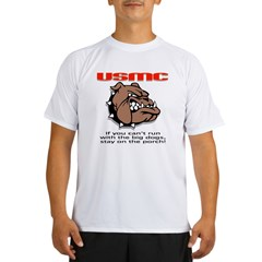 USMC Brown Bulldog Performance Dry T-Shirt