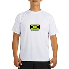 Flag of Jamaica Ash Grey Performance Dry T-Shirt