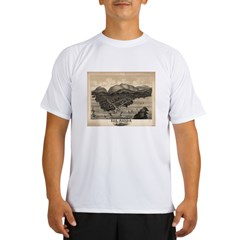 Antique map of Bar Harbor, Ma Performance Dry T-Shirt