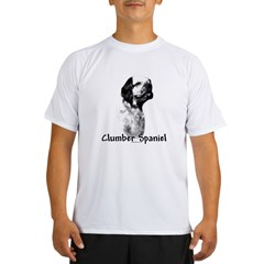 Clumber Spaniel Charcoal Performance Dry T-Shirt