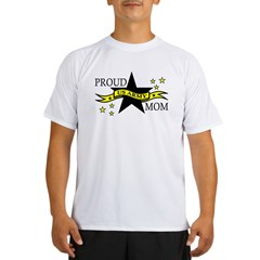 Proud Army Mom Hero Poem Ash Grey Performance Dry T-Shirt