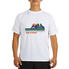 Keep on Hiking Ash Grey Performance Dry T-Shirt