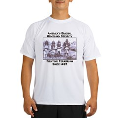 """America's Original Homeland Security"" Ash Grey Performance Dry T-Shirt"