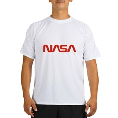 NASA Red Worm Lo Performance Dry T-Shirt