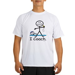 Swimming Coach Ash Grey Performance Dry T-Shirt