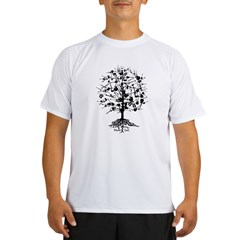 Guitar Tree Roots Performance Dry T-Shirt
