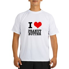 I Heart (Love) Peanut Butter Performance Dry T-Shirt