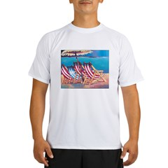 Beach Chairs Performance Dry T-Shirt