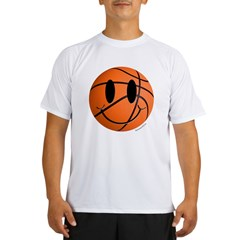 Basketball Smiley Performance Dry T-Shirt