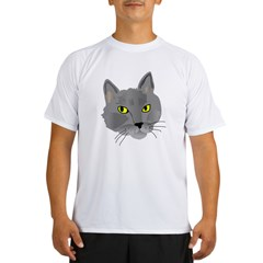 Gray Cat Performance Dry T-Shirt