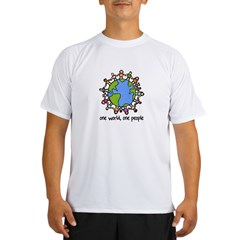 one world,one people Performance Dry T-Shirt