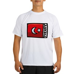 Turkish Flag Performance Dry T-Shirt