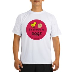 I'm allergic to eggs-red Performance Dry T-Shirt