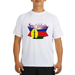 New Caledonian flag ribbon Performance Dry T-Shirt
