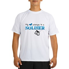 My heart belongs to a Soldier Performance Dry T-Shirt
