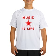 Music is Life Performance Dry T-Shirt