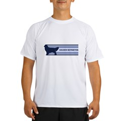 Golden Retriever (retro-blue) Performance Dry T-Shirt