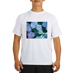 Blue Hydrangea Performance Dry T-Shirt