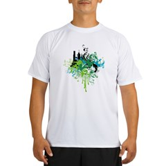 abstract floral design Performance Dry T-Shirt