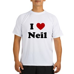 I Heart Neil Performance Dry T-Shirt