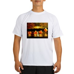 Unique Poker Art Rising Suits Performance Dry T-Shirt