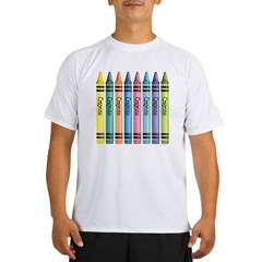 Colorful Crayons Performance Dry T-Shirt
