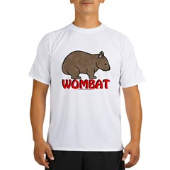 Wombat Logo Tee Shirt Light Colored Performance Dry T-Shirt