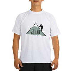 Get High: Mountain Climbing Performance Dry T-Shirt