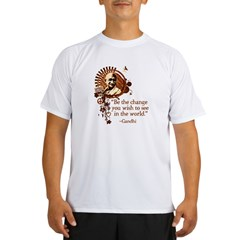 Funky Gandhi-Be the change... Performance Dry T-Shirt