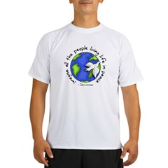 Imagine - World - Live in Peace Performance Dry T-Shirt