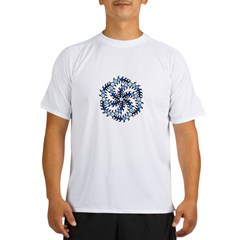 MilkHill Blue Transparent Performance Dry T-Shirt